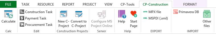 CP-Construction tab menu