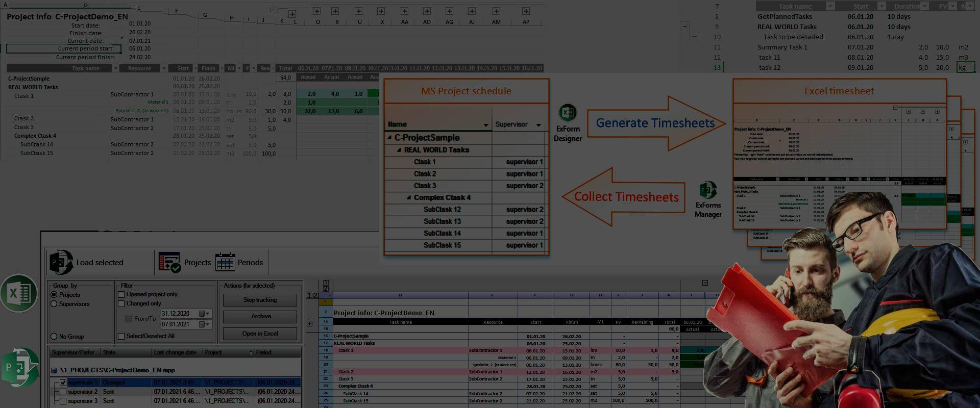 Збір фактичних обсягів робіт за допомогою MS Excel
